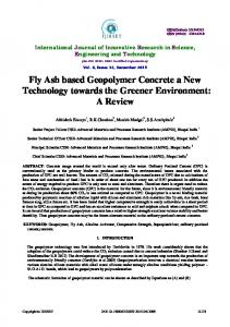 Fly Ash based Geopolymer Concrete a New Technology towards the Greener Environment: A Review