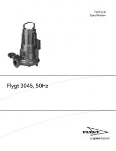 Flygt 3045, 50Hz. Technical Specification