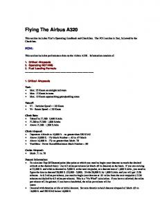 Flying The Airbus A320