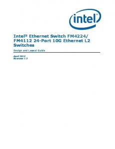 FM Port 10G Ethernet L2 Switches