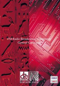 FM Radio Broadcasting Equipment General Catalogue