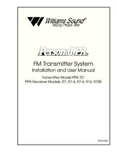 FM Transmitter System Installation and User Manual