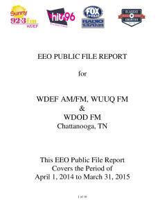 FM, WUUQ FM & WDOD FM Chattanooga, TN