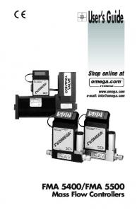 FMA Mass Flow Controllers. Shop online at