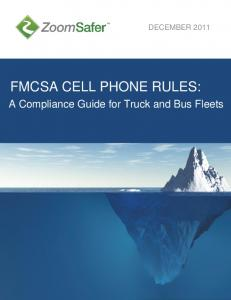 FMCSA CELL PHONE RULES: