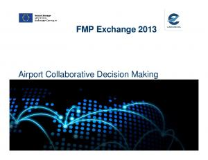 FMP Exchange Airport Collaborative Decision Making