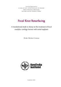 Focal Knee Resurfacing
