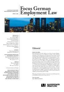 Focus German Employment Law