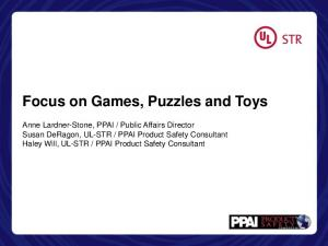 Focus on Games, Puzzles and Toys
