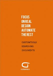 FOCUS ON REAL DESIGN AUTOMATE THE REST CUSTOMTOOLS SEARCHING DOCUMENTS