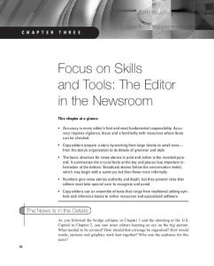 Focus on Skills and Tools: The Editor in the Newsroom