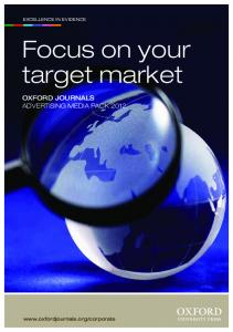 Focus on your target market