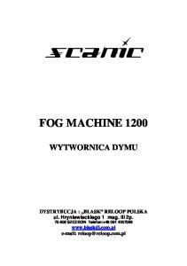 FOG MACHINE 1200 WYTWORNICA DYMU
