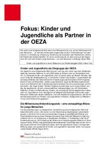 Fokus: Kinder und Jugendliche als Partner in der OEZA