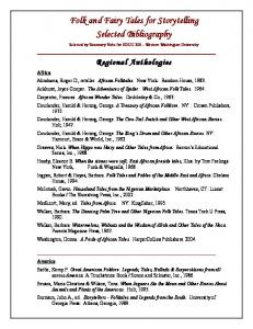 Folk and Fairy Tales for Storytelling Selected Bibliography