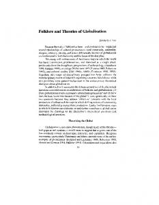 Folklore and Theories of Globalization