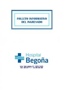 FOLLETO INFORMATIVO DEL INGRESADO