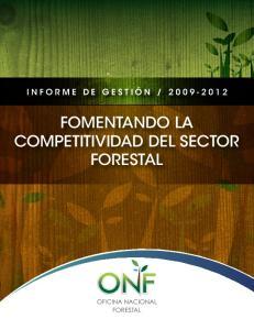 FOMENTANDO LA COMPETITIVIDAD DEL SECTOR FORESTAL