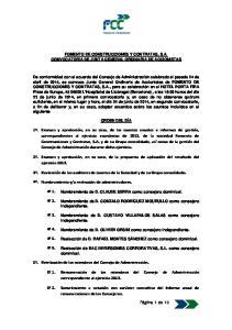 FOMENTO DE CONSTRUCCIONES Y CONTRATAS, S.A. CONVOCATORIA DE JUNTA GENERAL ORDINARIA DE ACCIONISTAS