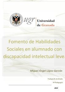 Fomento de Habilidades Sociales en alumnado con discapacidad intelectual leve
