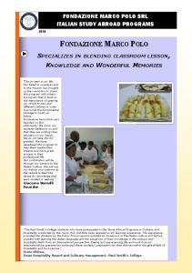 FONDAZIONE MARCO POLO ITALIAN STUDY ABROAD PROGRAMS
