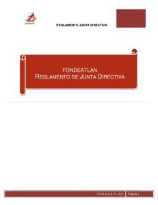 FONDEATLAN REGLAMENTO DE JUNTA DIRECTIVA