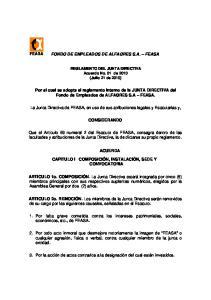 FONDO DE EMPLEADOS DE ALFAGRES S.A. FEASA