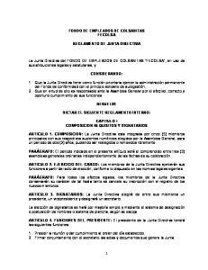 FONDO DE EMPLEADOS DE COLSANITAS FECOLSA REGLAMENTO DE JUNTA DIRECTIVA