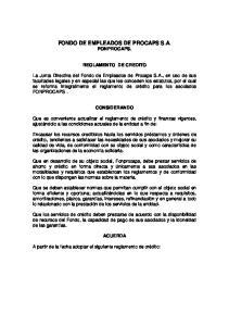 FONDO DE EMPLEADOS DE PROCAPS S.A. FONPROCAPS