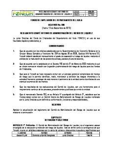 FONDO DE EMPLEADOS DEL DEPARTAMENTO DEL HUILA. ACUERDO No. 006 (Fecha: 10 de Septiembre de 2013)