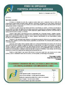 FONDO DE EMPLEADOS PONTIFICIA UNIVERSID AD JAVERIANA