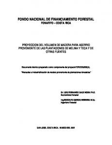 FONDO NACIONAL DE FINANCIAMIENTO FORESTAL FONAFIFO COSTA RICA
