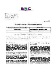 FONDO RENTA FIJA PICHINCHA VALORES S.A