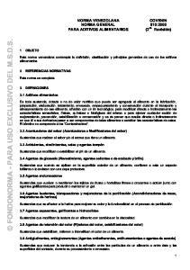 FONDONORMA - PARA USO EXCLUSIVO DEL M.S.D.S