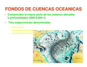 FONDOS DE CUENCAS OCEANICAS