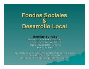 Fondos Sociales & Desarrollo Local