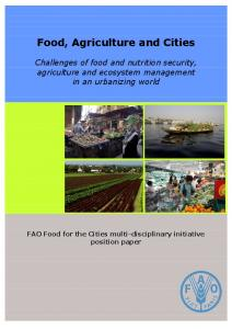 Food, Agriculture and Cities