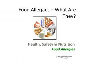 Food Allergies What Are They?