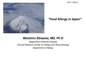 Food Allergy in Japan
