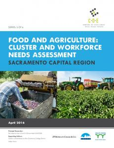FOOD AND AGRICULTURE: CLUSTER AND WORKFORCE NEEDS ASSESSMENT
