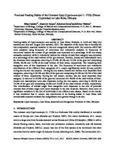 Food and Feeding Habits of the Common Carp (Cyprinuscarpio L. 1758) (Pisces: Cyprinidae) in Lake Koka, Ethiopia