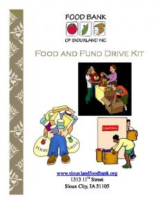 Food and Fund Drive Kit