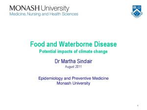 Food and Waterborne Disease Potential impacts of climate change
