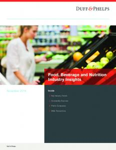Food, Beverage and Nutrition Industry Insights