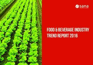 Food & Beverage Industry Trend Report 2016