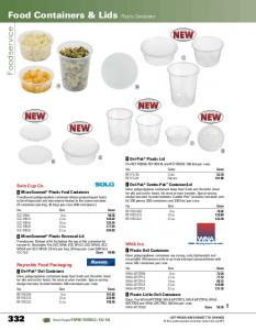 Food Containers & Lids Plastic Containers