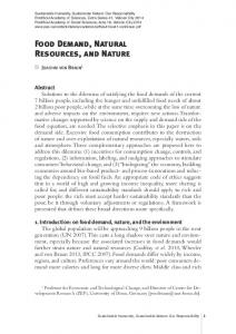 Food Demand, Natural Resources, and Nature