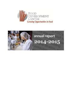 FOOD DEVELOPMENT CENTRE ANNUAL REPORT