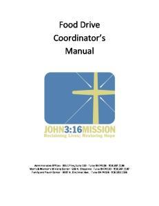 Food Drive Coordinator s Manual