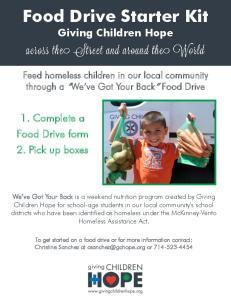 Food Drive Starter Kit Giving Children Hope